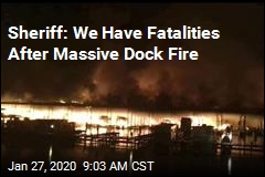 7 Missing After Massive Dock Fire
