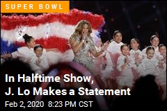In Halftime Show, J. Lo Makes a Statement
