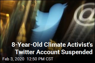 8-Year-Old Climate Activist's Twitter Account Suspended
