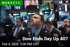 Dow Ends Day Up 407