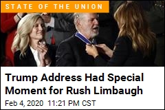 Limbaugh Awarded Medal During Trump Address