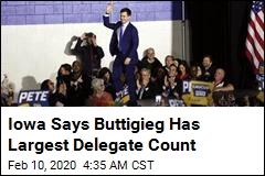 Iowa Says Buttigieg Has Largest Delegate Count