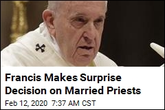 Pope's Ruling on Married Priests in Remote Areas: Nope
