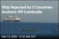 Ship Rejected by 5 Countries Anchors Off Cambodia