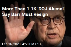 More Than 1.1K 'DOJ Alumni' Say Barr Must Resign