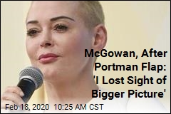 Without Naming Portman, McGowan Expresses Regret