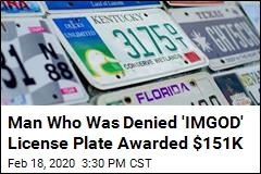 Kentucky Man Gets His 'IMGOD' License Plate—and $151K
