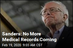 Sanders Won't Release Medical Records as Promised