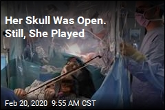 Her Skull Was Open. Still, She Played