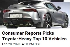 Consumer Reports Picks Toyota-Heavy Top 10 Vehicles