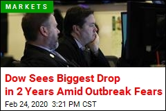 Dow Drops More Than 1K Amid Outbreak Fears