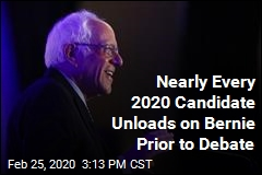 Nearly Every 2020 Candidate Unloads on Bernie Prior to Debate