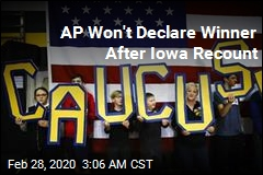 AP Won't Declare Winner After Iowa Recount