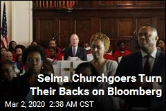 Selma Churchgoers Turn Their Backs on Bloomberg