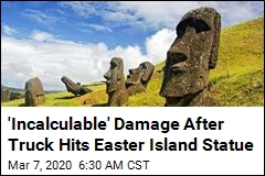 'Incalculable' Damage After Truck Hits Easter Island Statue