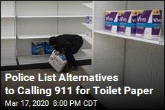Police List Alternatives to Calling 911 for Toilet Paper