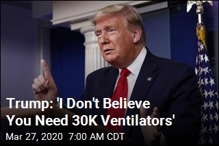 Trump Suggests NY Is Exaggerating Need for Ventilators