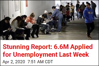 'Stunning' Report: 6.6M Applied for Unemployment Last Week