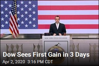 Dow Sees First Gain in 3 Days