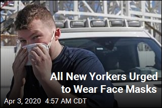 All New Yorkers Urged to Wear Face Masks