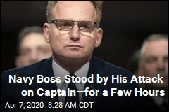 Navy Boss Stood by His Attack on Captain—for a Few Hours