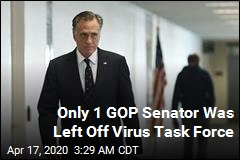 Romney Is Only GOP Senator Left Out of Virus Task Force