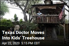 ER Doctor Self-Isolates in His Kids' Treehouse