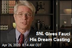 Brad Pitt Plays Fauci on Another SNL at Home