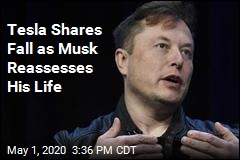 Tesla Shares Fall as Musk Reassesses His Life