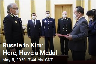 Russia Gives Medal to Kim Jong Un
