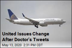 United Issues Change After Doctor's Tweets