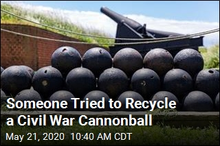 Someone Tried to Recycle a Civil War Cannonball