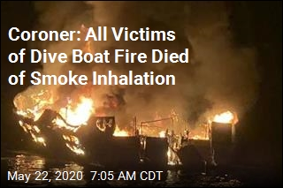 Coroner: All Victims of Dive Boat Fire Died of Smoke Inhalation