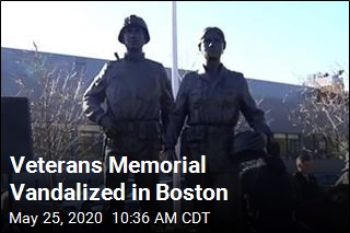 Veterans Memorial Vandalized in Boston