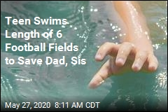 Teen Swims Length of 6 Football Fields to Save Dad, Sis