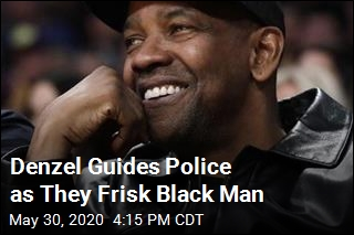 Denzel Guides Police as They Frisk Black Man