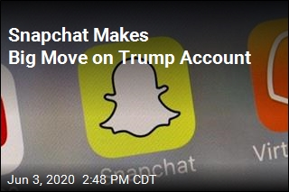 Snapchat Stops Promoting Trump Account