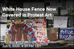 White House Fence Is Now a Gallery of Protest Art