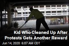 Kid Who Cleaned Up After Protests Gets a Job