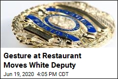 White Deputy Gets Nice Surprise at Breakfast