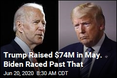 Trump Raised $74M in May. Biden Raced Past That