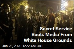Secret Service Boots Media From White House Grounds