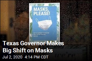 Texas Governor: Almost Everyone Must Wear Masks