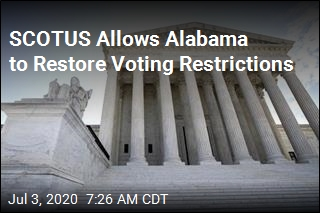 SCOTUS Allows Alabama to Restore Voting Restrictions