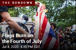 Flags Burn on the Fourth of July