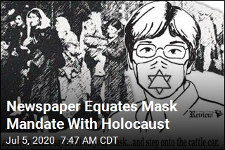 Newspaper Equates Mask Mandate With Holocaust