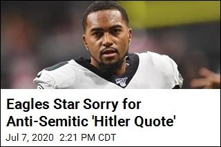 Eagles Star Sorry for Anti-Semitic 'Hitler Quote'