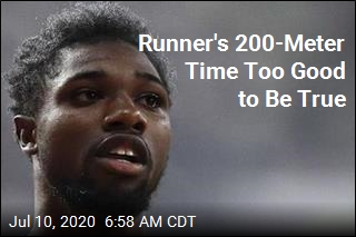 Runner's 200-Meter Time Too Good to Be True