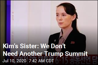 Kim's Sister Says Trump Summit Unlikely This Year