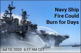 Navy Ship Fire Could Burn for Days